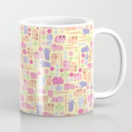 Pastel Guinea Pig Vegetable Patch Coffee Mug