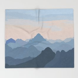 Pastel Sunset over Blue Mountains Throw Blanket