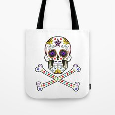 Sugar Skull & Cross Bones Tote Bag