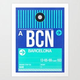 BCN Barcelona Luggage Tag 2 Art Print