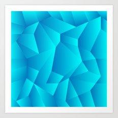 Mountain Grid Gradient Art Print