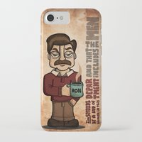 swanson iPhone & iPod Cases featuring Ron Swanson by maykel nunes