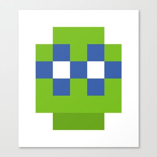 hero pixel green blue Canvas Print