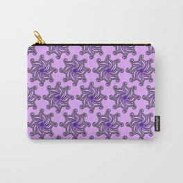 Purple Spiral Print by Xen™ Tattoo Design Carry-All Pouch