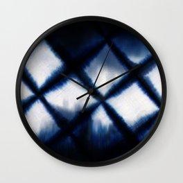 Shibori Experiment Wall Clock