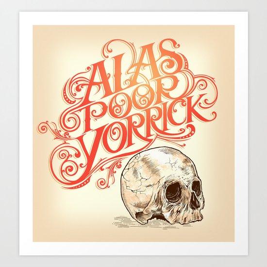 Hamlet Skull Art Print