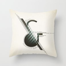 Ampersand Construction Throw Pillow