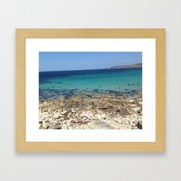 blue oceans Framed Art Print