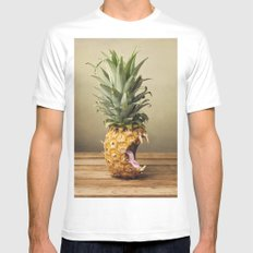 Pineapple is hungry LARGE Mens Fitted Tee White