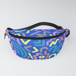Let's Party! Contemporary Playful Pattern in EVERY Color Fanny Pack