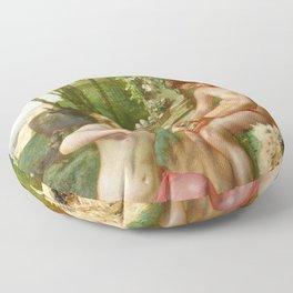 Jean-Francois Millet - Spring, Daphnis And Chloe - Digital Remastered Edition Floor Pillow