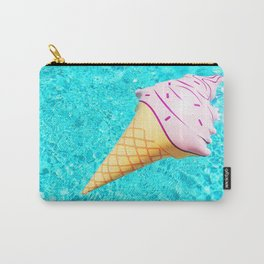 pink ice cream cone float all up in my pool yo Carry-All Pouch