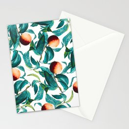 Fruit and Leaf Pattern Stationery Cards