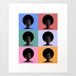 Black Woman, Black Pride Art Print