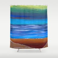 dune Shower Curtains featuring Sand Dune by Kristin Rodgers