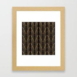 Wheat grass black Framed Art Print