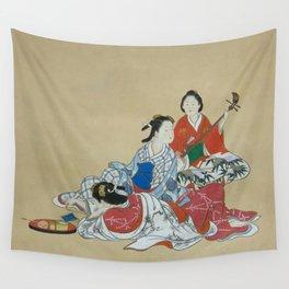 Three Beauties Wall Tapestry