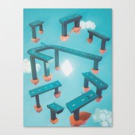 Bridge Over Untroubled Skies - 02 Canvas Print