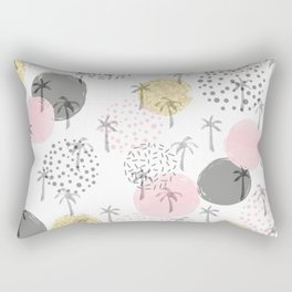 Sun Spots Palm Pattern Rectangular Pillow