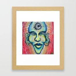 Moon God Framed Art Print