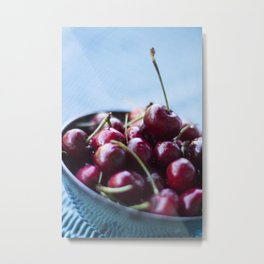 Life IS a Big Bowl of Luscious Red Cherries Metal Print
