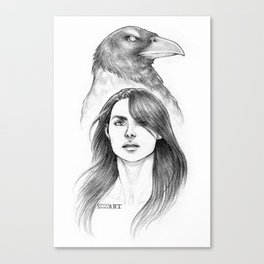 The Grey Crow Canvas Print