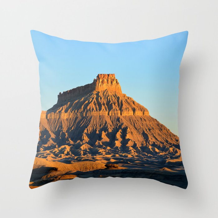 Factory Butte Utah Throw Pillow By Lightminingunlimited Society6