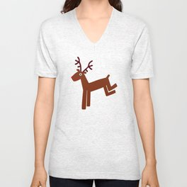 Reindeer-Green Unisex V-Neck