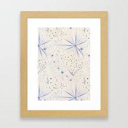 bleu craie Framed Art Print