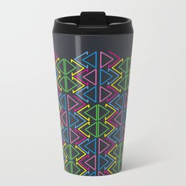 Geometric pattern Metal Travel Mug