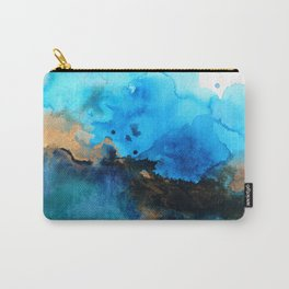 Blue gold flow abstract Carry-All Pouch
