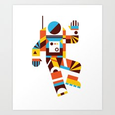 Hello Spaceman 2.0 Art Print