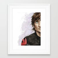 hiccup Framed Art Prints featuring Hiccup by Elise Hoglund