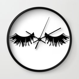 Eyelash Print Wall Clock