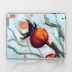 Rose Hips Abstract Watercolor Nature Laptop & iPad Skin