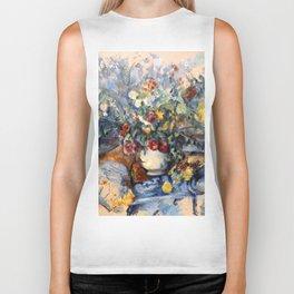 """Paul Cezanne """"A Large Bouquet of Flowers """" Biker Tank"""