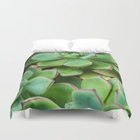 succulents Duvet Covers featuring Succulents by Michelle McConnell