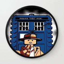 Funny doctor who legos Wall Clock