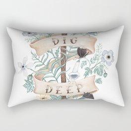 Dig Deep Rectangular Pillow