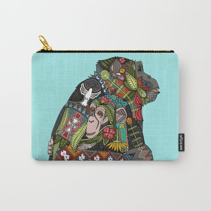 chimpanzee love sky Carry-All Pouch