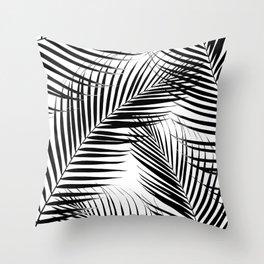 Palm Leaves - Black & White Cali Vibes #1 #tropical #decor #art #society6 Throw Pillow