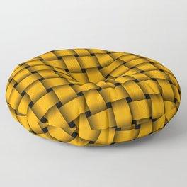 Orange Weave Floor Pillow