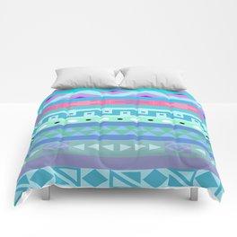 Calm Colored Tribal Print Comforters
