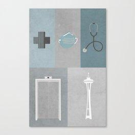 Grey's Anatomy Starter Kit Canvas Print