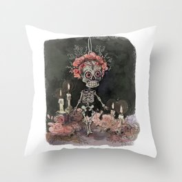 little Bones Throw Pillow