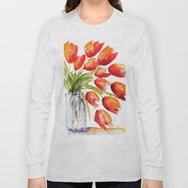 Tulips Overflowing Long Sleeve T-shirt