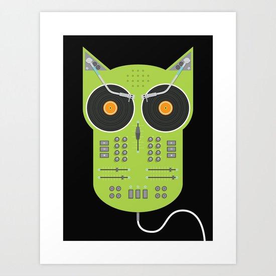 Owlbum Mixer Art Print