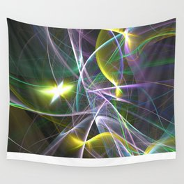 The Curves of Symbiotic Frequencies Traveling To Their Respective Destinations Only Compressed Wall Tapestry