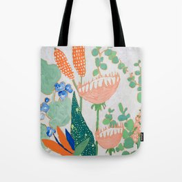 Proteas and Birds of Paradise Painting Tote Bag