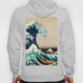The Great Wave Off Kanagawa Traditional Japanese Landscape Hoody